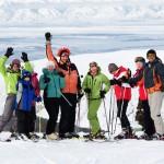 Grupa podczas wyjazdu narciarskiego